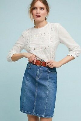 2ed1800d8c NWT Anthropologie Pilcro and the Letter Press Denim Skirt Size14 -Fast  Shipping