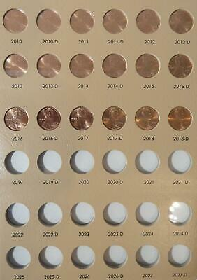 2010-2018 P&D BU Lincoln Shield Cents, NEW Dansco Album 7104...slots for years!