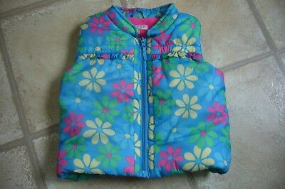 Marks & Spencer - Indigo - Pretty floral girl's body warmer - gilet - Age 18/24