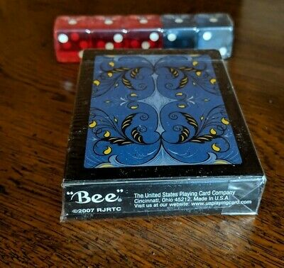 Rare Limited Edition '07 RJRTC Bee Watermelons Red /& Blue Set Playing Cards