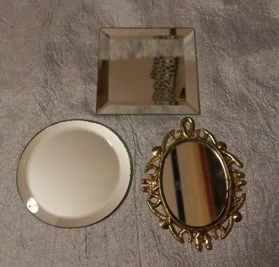 Vintage Dollhouse Miniatures 1:12 Scale Wall Mirrors #058
