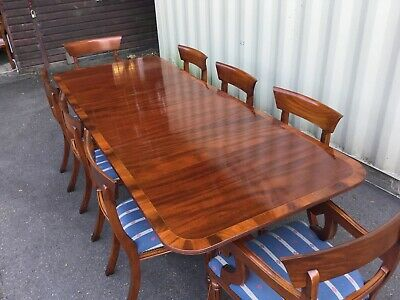 Stunning set 8 to 14 William IV style Bar back mahogany chairs French polished