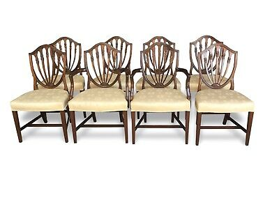 Amazing Set of 8 Beautiful Grand Hepplewhite style chairs Pro French polished