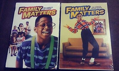 Family Matters: The Complete First & Second Seasons DVD Sets 1st 2nd Steve Urkel