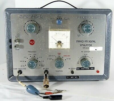 Vintage RCA FM SIGNAL SIMULATOR WR-51A Generator Radio Receiver Test Equipment