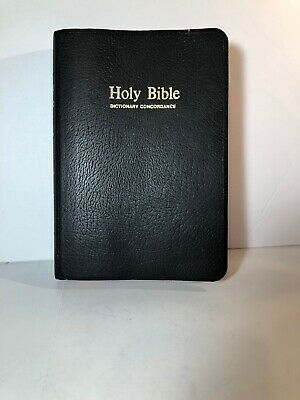 Holy Bible King James Version Kjv Red Letter Dictionary Concordance 1977