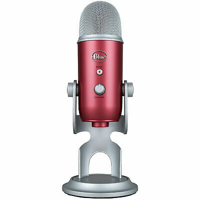 BLUE MICROPHONES Yeti USB Microphone - Steel Red - New Fast shipping
