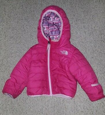 The North Face Reversible Baby Girls Winter Jacket Coat Age 6 - 12 months