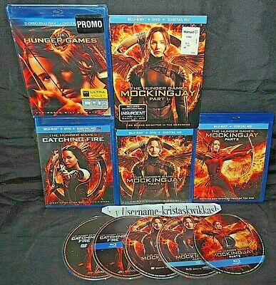 The Hunger Games Collection (Blu-Ray) Catching Fire Mockingjay 1 & 2 Lot Set VG