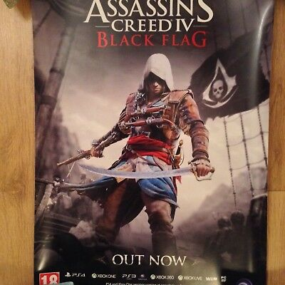 Assassins creed black flag rare official advertising poster, new