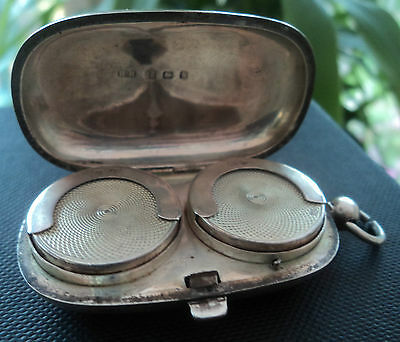 Attractive Stg Silver Double Sovereign Case / Holder - H. Hayes 1907 Birmingham