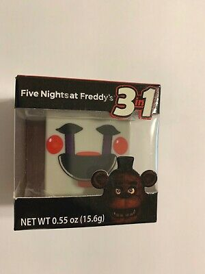 RARE FIVE NIGHTS AT FREDDY'S Stackable CUBEZ 3 In1 Candy & Booklet