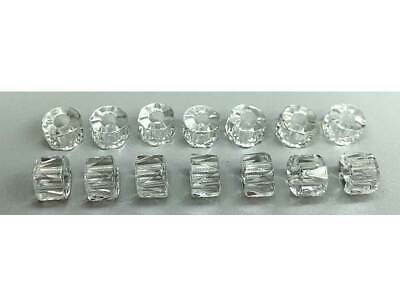 Czech Glass LARGE HOLE Tire Spacer Beads 8x6mm clear Crystal, 40 pieces, P444