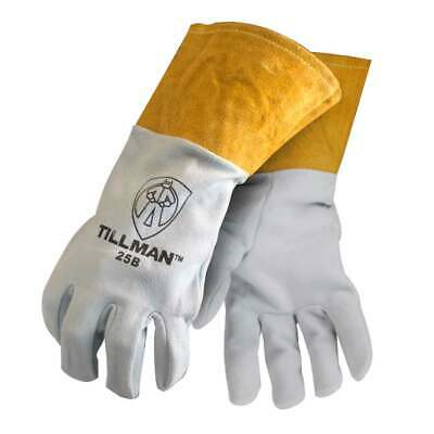 "Tillman 25B Deerskin Split Leather 4"" Cuff TIG Welding Gloves, Medium"