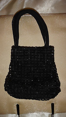 Dolcis Black Beaded Evening Bag Small