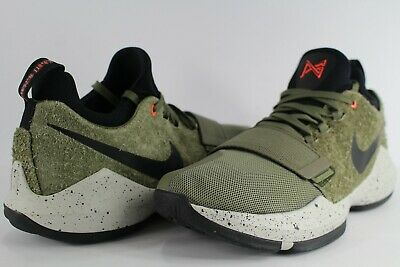 watch bc075 e51fd Nike PG 1 Elements Olive Green Black Size 11 Paul George 911085-200