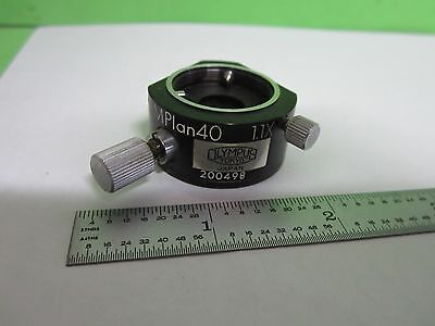Microscope Olympus Japan Mplan 40X Dic Prism Nomarski Optics As Is Bin#S2-B-05
