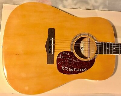 Artimus Pyle Signed Guitar Lynyrd Skynyrd Autographed Acoustic Inscription Proof