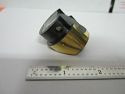 Microscope Part Prism Mounted In Brass Bausch Maybe?? Optics Bin#45-15