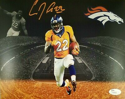 bb7010b795ef5 CJ ANDERSON AUTOGRAPHED/SIGNED Denver Broncos 8X10 Photo JSA 18734 ...