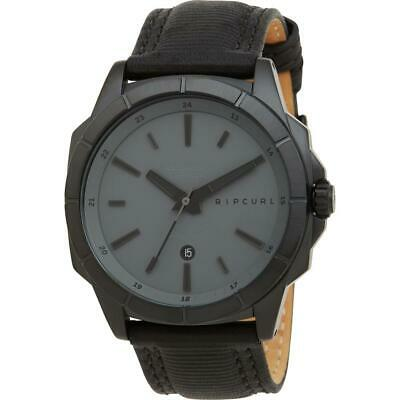 f76bfa5f85 RIP CURL MEN'S Quartz Stainless Steel and Leather Sport Watch, Color ...