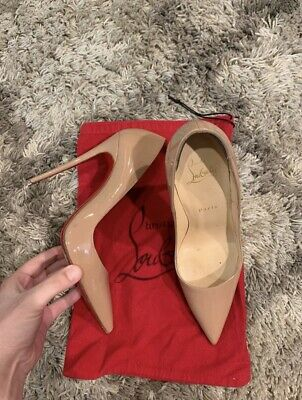 3b048c036ca0 Authentic Christian Louboutin So Kate 120 Nude Patent Heels size 38 with  box bag