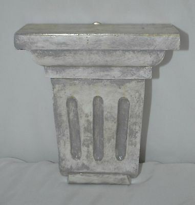 Vintage Painted Solid Wood Corbels - Faux Marble Finish - 8""