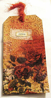 Coffee/Tea Dyed Tags 10 Embossed & 10 Stamped Great 4 Junk Journals, Mixed Media