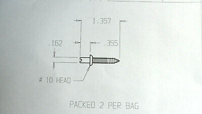 Outswing Hinge Security Screws for hinges with removable hinge pins in 2 Sizes