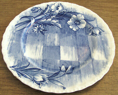 "Blue & White Grindley ""Trellis"" Made In England Plate"