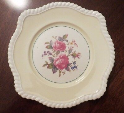 """Johnson Brothers England Square Salad Plate Floral 8"""" JB21 Yellow Windsor Ware"""