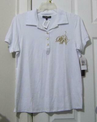 Baby Phat Embroidered Beaded White Tee, Size 1X (18/20) Nwt, Reduced