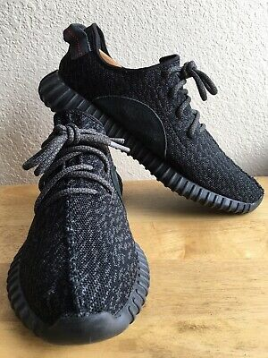 808b9889765 ADIDAS YEEZY BOOST 350 Pirate Black SZ 10.5 BB5350 PRE-OWNED NoBox ...