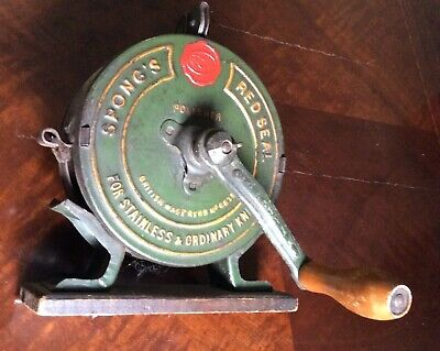 Antique Spong's Red Seal Victorian Rotary Knife Cleaner/Polisher