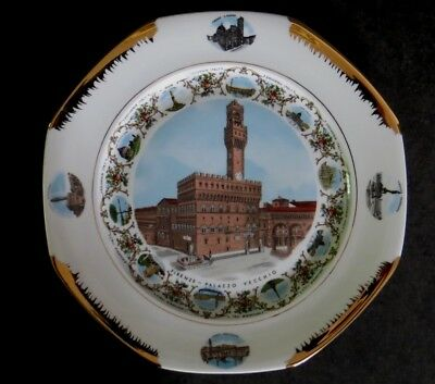 """Fabulous Florence Firenze Italy Souvenir Plate beautifully decorated big 11 3/4"""""""