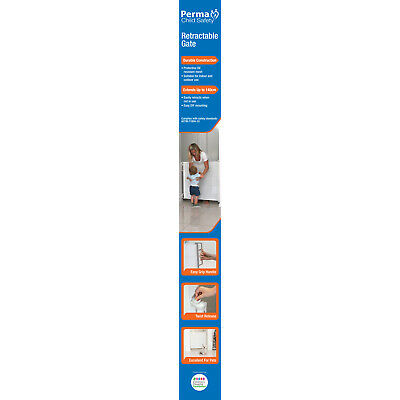 Perma Child Safety Outdoor Retractable Gate Extends Up To 180cm - 84cm Tall