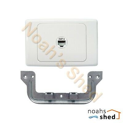1 2 3 4 5 6 Gang Wall Plate Clipsal Style RJ45 Cat6 Data Jack Network LAN Socket