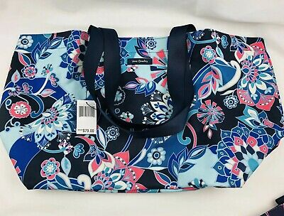 Vera Bradley Lighten Up Family Tote Beach Bag In LOTUS FLOWER New W Tags Fr Sh