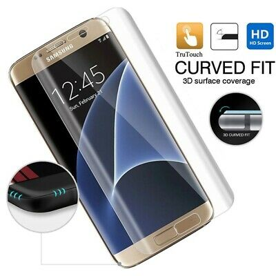 Samsung Galaxy S7 - Full Cover Screen Protector HD Clear LCD Film Curved Display