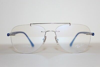 073924263b949 New Authentic Ray-Ban Rb 8749 1193 Blue Silver Frames Eyeglasses 54 Mm  Rb8749 Rx