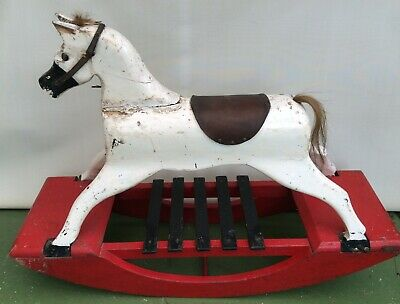 Antique All Wooden Rocking Horse