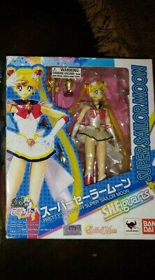 Figuarts Sailor Moon with Luna Action Figure Reissue Bandai IN STOCK USA S.H