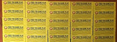 25 Dave and Busters D&B $20 gameplay with same purchase powercard EXP 03/31/2020