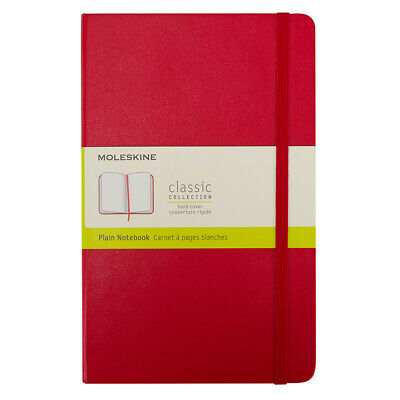 NEW Moleskine Classic Hard Cover Notebook Pocket Plain Red