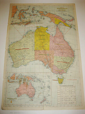 Vintage Map No. 518 / Australia And New Guinea Published By H.e.c. Robinson 1940
