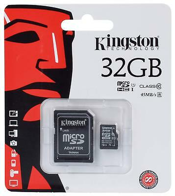 Kingston Memoria Micro SD 32Gb Clase 10 Con Adaptador 45MB/s