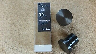Pair of John Lewis Antique Brass 30mm Curtain Pole Stud Finials
