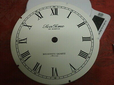 "Clock Dial 6"" o/d Metal Black Print Marine Tea Time Norwich Megahertz part face"