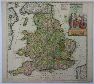 Antique Map of England and Wales by Cornelis Danckerts 1690