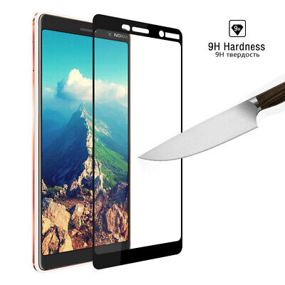 9H Screen Protector Tempered Glass Film For Nokia 7 Plus Protective Full Cover